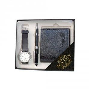 Zestaw Dla Taty - portfel, długopis, zegarek