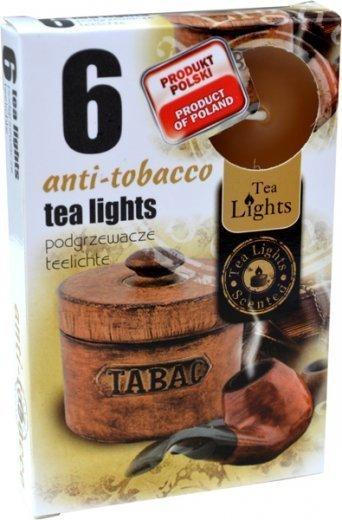 "PODGRZEWACZ 6 SZTUK TEA LIGHT ""Anti-Tobacco"""