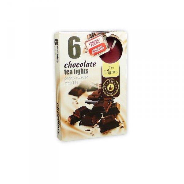 "PODGRZEWACZ 6 SZTUK TEA LIGHT ""chocolate"""