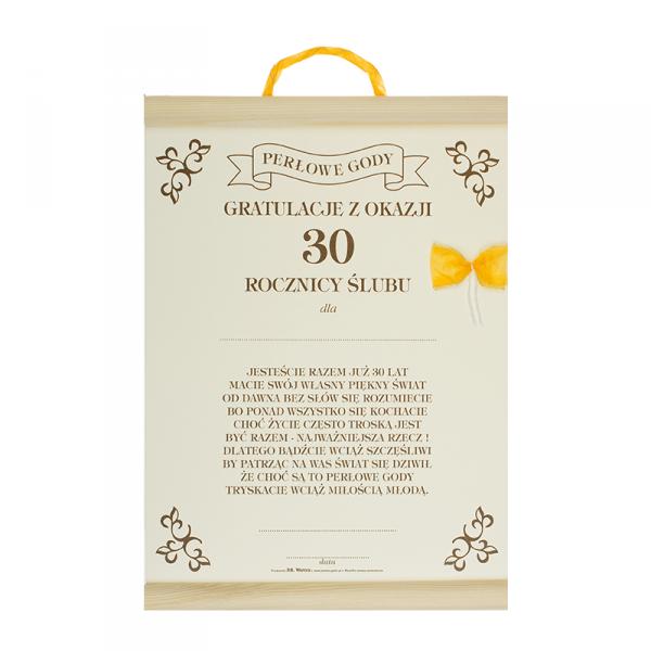 GRATULACJE Z OKAZJI 30 ROCZNICY ŚLUBU