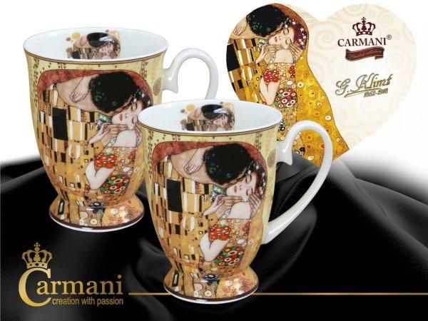 Kubki w sercu - G. Klimt, Pocałunek (CARMANI)